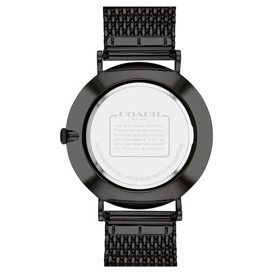 Coach Men's Charles Black Plated Watch
