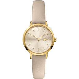 Lacoste Ladies Moon Taupe Leather Watch