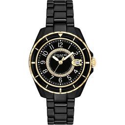Coach Ladies Preston Black Ceramic Watch