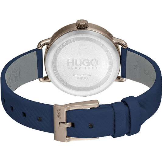 HUGO Ladies #Mellow Blue Leather Watch