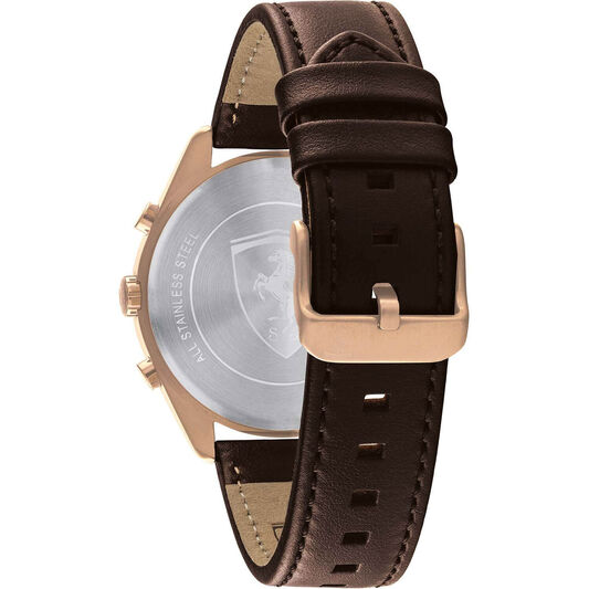 Scuderia Ferrari Men's Abetone Brown Leather Watch