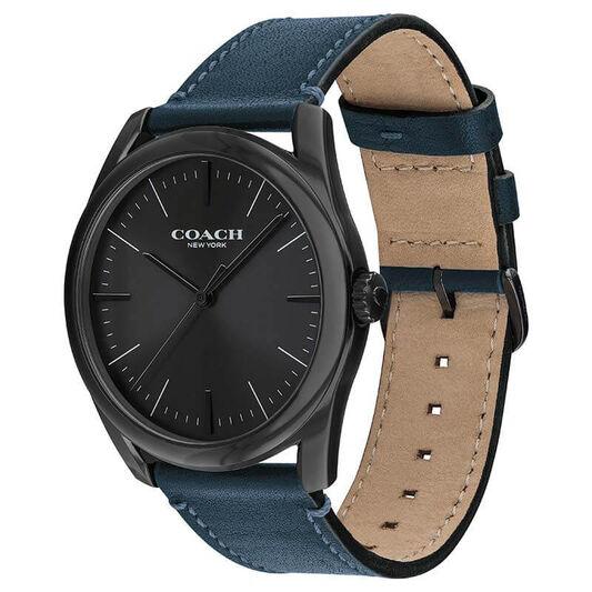 Coach Men's Modern Luxury Blue Calfskin Watch