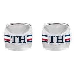 Tommy Hilfiger Men's Stainless Steel Logo Cufflinks
